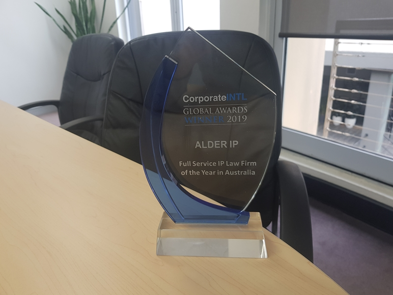 The team at Alder IP are extremely proud to be named 2019 Full Service IP Law Firm of the Year in Australia.